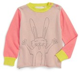 Stella McCartney Infant Girl's 'Lucky Bunny' Cotton & Cashmere Sweater
