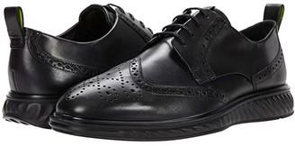 Ecco ST.1 Hybrid Lite Brogue (Amber) Men's Shoes