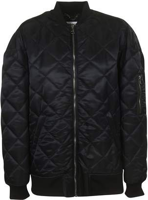 Moschino Logo Patch Quilted Bomber