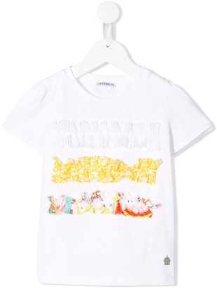 Simonetta frill applique T-shirt