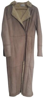 Zadig & Voltaire Beige Shearling Coat for Women
