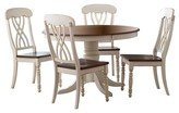 Homelegance 5 Piece Countryside Round Table Set Wood/Antique White
