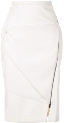 Lisa Von Tang Panelled Pencil Skirt