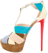 Ruthie Davis Suede Platform Sandals