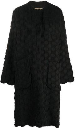 UMA WANG Polka Dot Knit Cocoon Coat