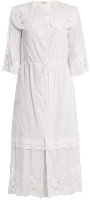 Vilshenko Auberta Floral Embroidered Cotton Dress - Womens - White