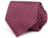Salvatore Ferragamo Textured Diamond Nonsolid Classic Tie