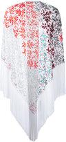 Missoni patterned tassel cape - women - Viscose - One Size