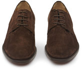 Reiss Reiss Porter - Suede Derby Shoes In Brown