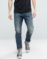 G Star G-Star 3301 Tapered Medium Aged Light Blue Wash