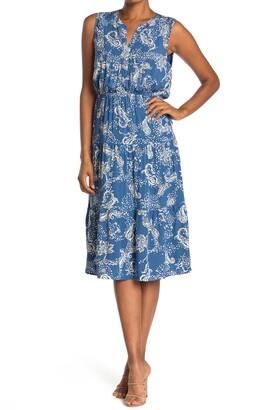Dr2 By Daniel Rainn Long Sleeve Fitted Waist Midi Dress