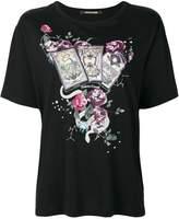 Roberto Cavalli card print T-shirt