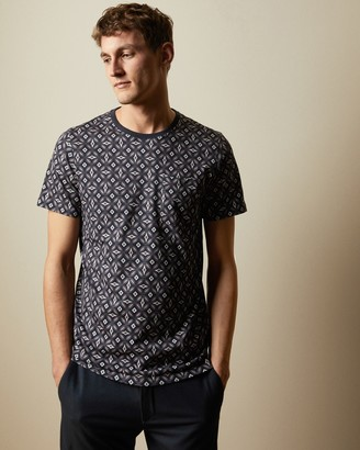 Ted Baker LANDED Geo print cotton T-shirt