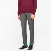 Men's Slim-Fit Grey Marl Wool-Cashmere Trousers