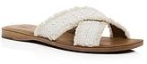 Frye Hayley Frayed Raffia Crisscross Slide Sandals