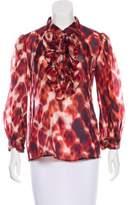 Just Cavalli Tie-Dye Silk Blouse