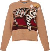 Dolce & Gabbana Zambia Intarsia Cashmere-Blend Sweater