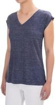 Adrienne Vittadini Linen V-Neck Shirt - Short Sleeve (For Women)