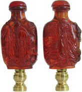 One Kings Lane Vintage Chinese Immortals Lamp Finials, Pair