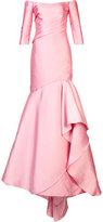 Monique Lhuillier mermaid gown - women - Silk - 4