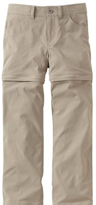 L.L. Bean Girls' Trekking Zip-Off Pants with Stretch