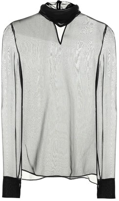 Valentino silk chiffon turtleneck top