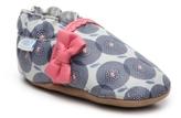 Robeez Petal Pop Girls Infant Slip-On Crib Shoe