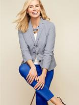Talbots Tailored Gingham Blazer