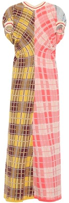 Marni Plaid cotton jersey dress