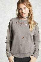 Forever 21 Contemporary Bleached Sweatshirt