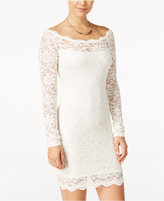 Jump Juniors' Off-The-Shoulder Lace Bodycon Dress