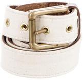 Rag & Bone Leather-Trimmed Canvas Belt