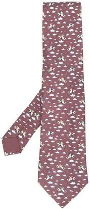 Hermes 2000's Pre-Owned Winged Horse Printed Tie