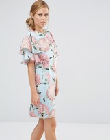 Warehouse Pom Pom Print Dress