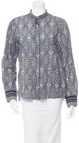 Derek Lam 10 Crosby Polka Dot Print Top