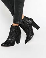 Little Mistress Glitter Heeled Boots