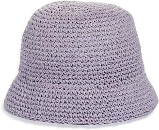 Kate Spade metallic crochet bucket hat