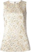 Dolce & Gabbana floral jaquard tank top - women - Silk/Acrylic/Lurex/Acetate - 40