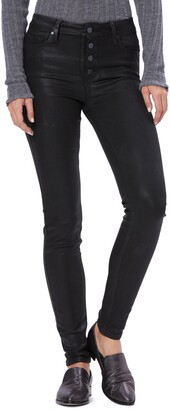 Paige Transcend - Hoxton Coated High Waist Ultra Skinny Jeans