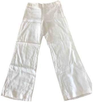 Ralph Lauren White Linen Trousers