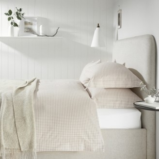 The White Company Banbury Duvet Cover, White Natural, Double