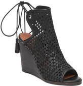 Lucky Brand Perforated Black Wedge