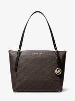 MICHAEL Michael Kors Voyager Large Logo Top-Zip Tote Bag