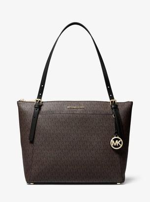 MICHAEL Michael Kors Voyager Large Logo Top-Zip Tote Bag