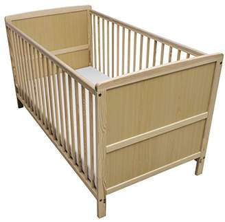 Camilla And Marc Kinder Valley Solid Pine Wood 2-in-1 Junior Cot Bed, Natural, 144 x 76 x 80 cm