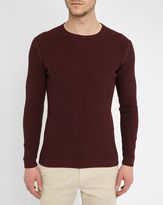 M.STUDIO Wine-Red Matthis Rib-Knit Round-Neck Sweater