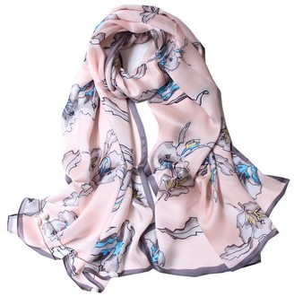 "Wztp Silk Scarves for Women 100% Scarf Satin Lightweight Ladies Shawls Gradient Color Simple Stylish Wraps Brighten Skin Colour 70.8"" x 27"