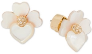 Kate Spade Gold-Tone Crystal Flower Stud Earrings