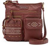 UNIONBAY Geometric Studded Crossbody Bag
