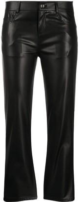 Liu Jo Cropped Faux-Leather Trousers